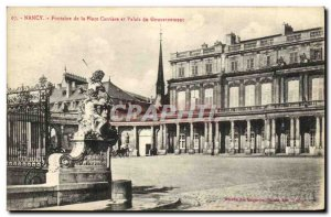 Old Postcard Nancy Fountain Place Carriere and Government Palace