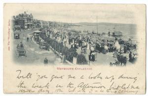 Weymouth Esplanade Vignette, 1903 PMK, From Royal Dorset Yacht Club