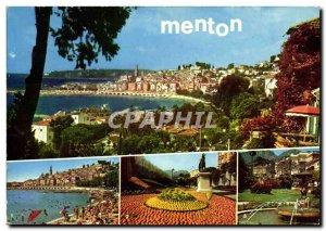 Postcard Moderne Menton Old Town