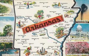 ARKANSAS Map , 40-60s ; 6-views