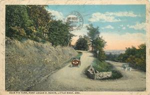 Little Rock Arkansas~Hair Pin Turn~Fort Logan H. Roots~1918 Postcard