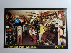 Vintage Postcard Tortilla Flat Arizona 1985 pinning dollar bills unposted
