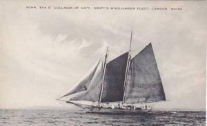 Maine Camden Schooner Eva S Cullison Of Capt Swift's Windjammer Fleet