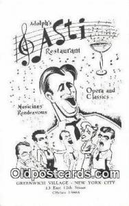 Adolph's Restaurant, New York City, NYC Postcard Post Card USA Old Vintage An...