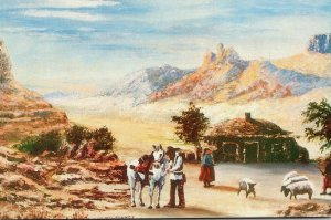 Arizona Indian Family With Sheep Painting By William Mewhinney