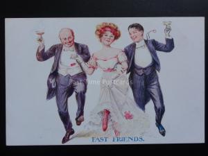 FAST FRIENDS - Old Postcard 160515