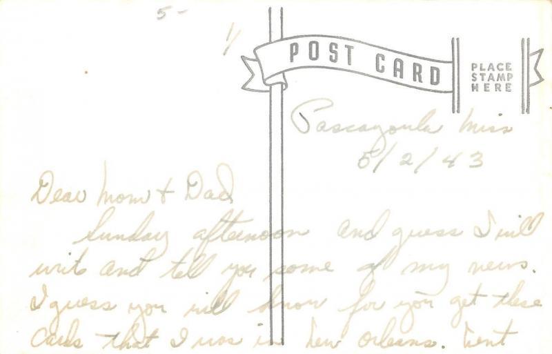 RPPC Art Deco Dancer's Paradise Ballroom~Streckfus Steamer President 1943