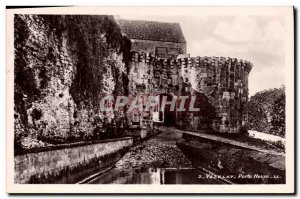 Postcard Old New Castle Vezelay door