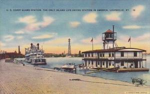 U S Coast Guard Station The Only In Land Life Saving Station In America Louis...