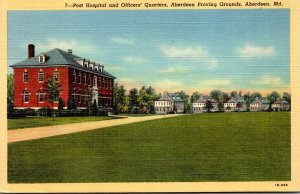 Maryland Aberdeen Post Hospital and Officers' Quarters Aberdeen Proving ...