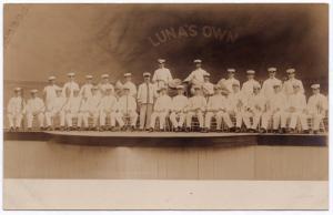Scranton PA RPPC 1907-09 Luna's Own Band Luna Amusement Park REAL PHOTO Postcard