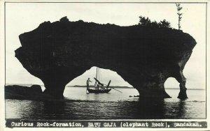 british north borneo, Sabah, SANDAKAN, Batu Gaja Elephant Rock (1940s) RPPC