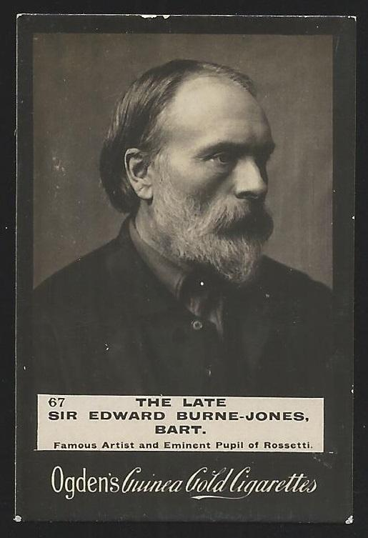 Ogden's Guinea Gold SIR EDWARD BURNE-JONES Cigarettes Card. Small faults