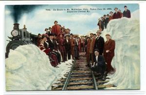 Train People En Route Mt McClellan Argentine Central Railway Colorado postcard