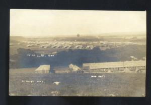 RPPC FORT RILEY KANSAS U.S. ARMY BASE MILITARY VINTAGE REAL PHOTO POSTCARD
