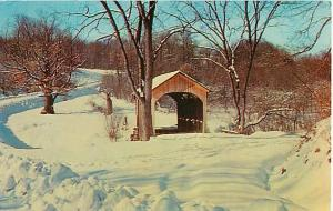 Ohio's Shortest Covered Bridge, Brief Buckeye Covered Bridge, Ohio, OH