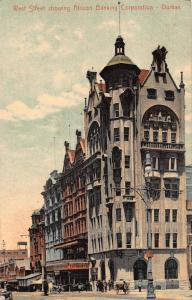 South Africa Durban African Banking Corporation bank West Street postcard