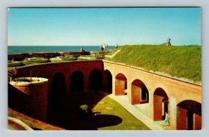 Ship Island MS-Mississippi, Fort Massachusetts, Chrome Postcard