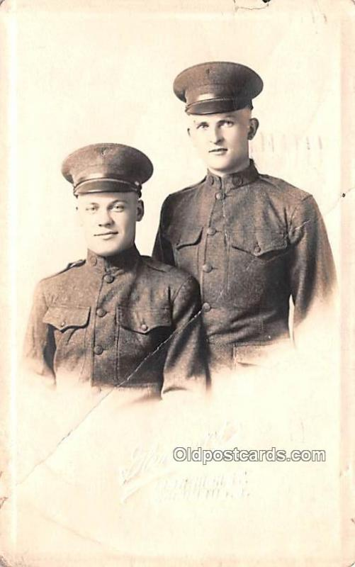 Military Real Photo Post Cards Old Vintage Antique Soldier, Army Men Real Pho...