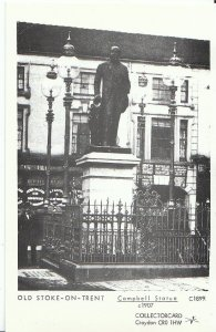 Staffordshire Postcard - Old Stoke-on-Trent - Campbell Statue c1907 -  U804