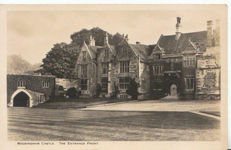 Northamptonshire Postcard - Rockingham Castle - The Entrance Front - Ref TZ303