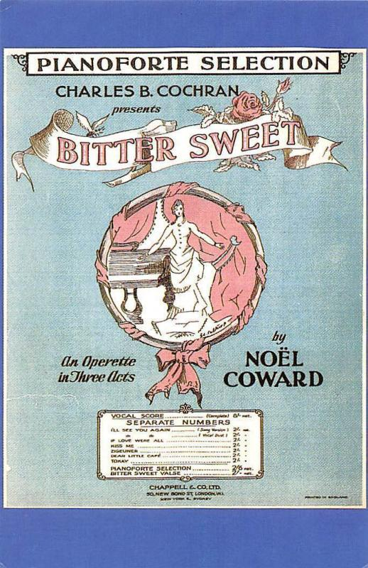 Bitter Sweet Sheet music cover melodies songs selection 1929 Nostalgia Reprint