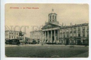 3158655 BRUXELLES Belgium BRUSSELS Place Royale TRAM OLD PC