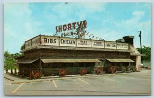 Postcard FL Miami Shorty's Bar-B-Q Ranch Restaurant c1950s N1