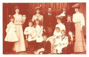 England British Royalty King George V and royal family, Nostalgia Reprint