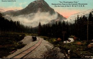 Washington Snoqualmie Pass In The Cascade Mountains