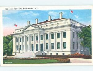 Unused Linen RED CROSS MEMORIAL BUILDING Washington DC hn9090
