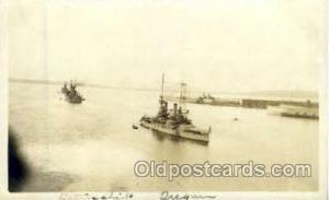 Battleship Oregon Military Ship Unused close to perfect corners, light writin...
