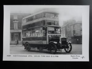 Omnibus NOTTINGHAM CPN SOLID TYRE BUS BEESTON DERBY Pamlin Print Postcard M209