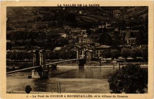 CPA Le Pont de COUZON a Rochetaille et le village de COUZON (367634)