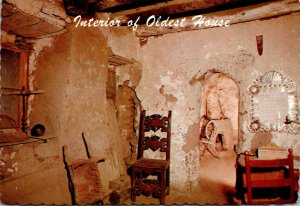 New Mexico Santa Fe Interior Of Oldest House In The U S A