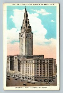 Cleveland OH-Ohio, The New Union Station, Vintage Postcard