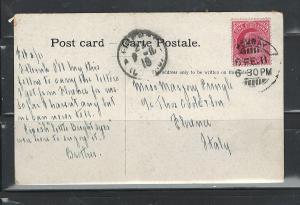 INDIA, BOMBAY, 1911, ELEPHANT TRAINER MAILED TO FLORENCE, ITALY