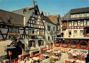 Romantik Frohsinn Edelwein Rudesheim am Rhein Drosselgasse Postcard