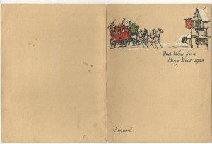 CUNARD, R.M.S. AUSTRIA, 1928; Christmas Day Menu
