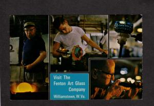 WV Fenton Art Glass Company Co Advertising Postcard Williamstown West Virginia