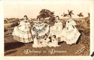 Panama Traditional Clothing Women Children Real Photo Antique Postcard K13177