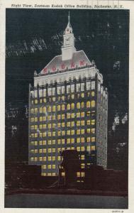 ROCHESTER , New York, 30-40s ; Eastman Kodak Office Building, Night View