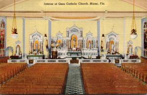 Florida Miami Gesu Catholic Church Curteich