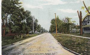 CHATHAM , Canada , 1908 ; Victoria avenue Looking North