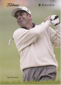 golfer Sam Torrance (unsigned) with Titleist and Footjoy logos