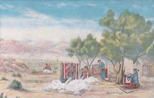 The Navajo Indian Painting By Cowboy Artist L D Dude Larsen