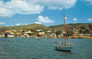La Parguera Puerto Rico fishing boat near Phosphorescent Bay vintage pc Z51043