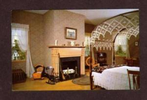 ME Bedroom Ruggles House COLUMBIA FALLS MAINE POSTCARD