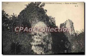 Postcard Old Fauguernon Calvados castle ruins