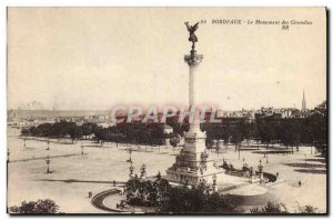 Old Postcard The Girondins Bordeaux Monument
